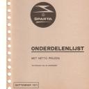 Onderdelenlijst Sparta 9-1971