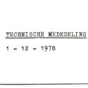 Technische mededelingen 1978