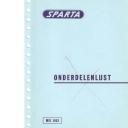 Onderdelenlijst Sparta 5-1963
