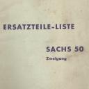 Nr. 310.6.5 Ersatzteile-Liste Sachs 50 Zweigang