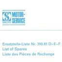 Nr. 310.61 DEF Ersatzteile-Liste Sachs 50.AM