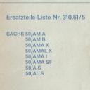 Nr. 310.61/5 Ersatzteile-Liste Sachs 50