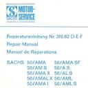 Nr. 310.82 DEF Reparaturanleitung Sachs 50