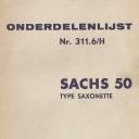 Nr. 311.6 H Onderdelenlijst Sachs 50 Type Saxonette