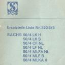 Nr. 320.6/8 Ersatzteile-Liste Sachs 50/4