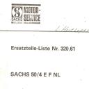 Nr. 320.61 Ersatzteile-Liste Sachs 50/4 EF NL