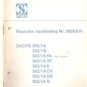 Nr. 3029.8 H Reparatie-Handleiding Sachs 502
