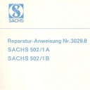 Nr. 3029.8 Reparatur-Anweisung Sachs 502