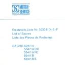 Nr. 3030.6 DEF Ersatzteile-Liste Sachs 504
