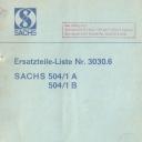 Nr. 3030.6 Ersatzteile-Liste Sachs 504