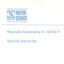 Nr. 3034.8 H Reparatie-handleiding Sachs 505/1A NL