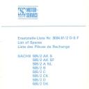 Nr. 3034.61/2 DEF Ersatzteile-Liste Sachs 505/2