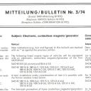 Sachs Mitteilung Bulletin Nr. 3.74
