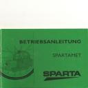 Betriebs-Anleitung Spartamet