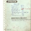 Onderdelenlijst Sparta 5-1968